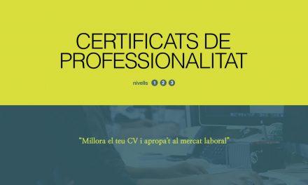 El certificat de professionalitat acredita la teva qualificació professional