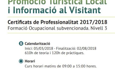Nou curs a Gentis Deltebre: Promoció Turística Local i Informació al Visitant