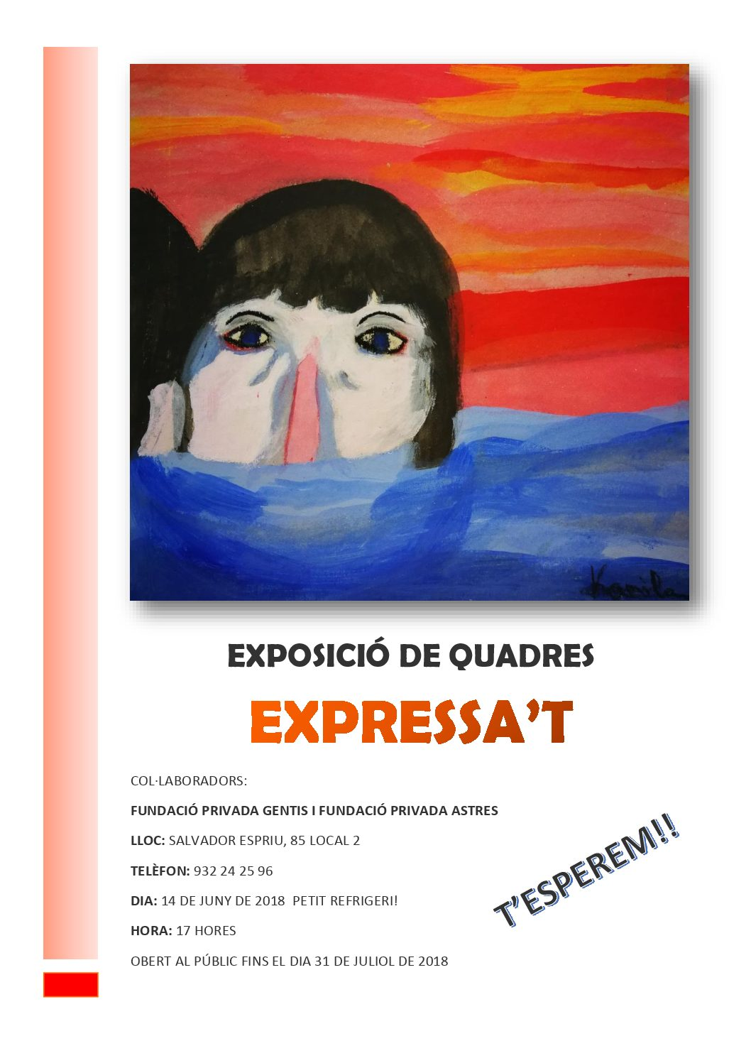 Expressa't, exposició de quadres a la seu de Gentis de Salvador Espriu